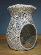 Mosaic Oil Burner - Crackle Mirror