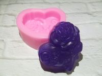 Heart & Roses Silicone Soap Mould