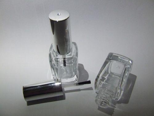 Nail Polish Bottle / Silver Cap - 12mL