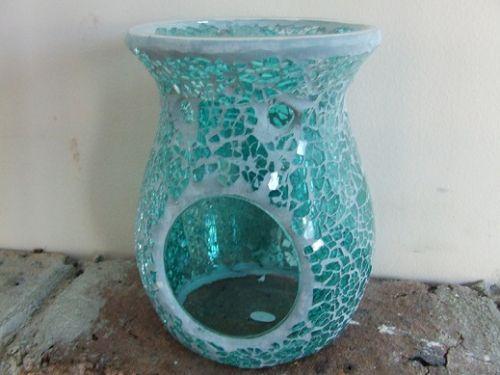 Mosaic Oil Burner - Turquoise Crackle
