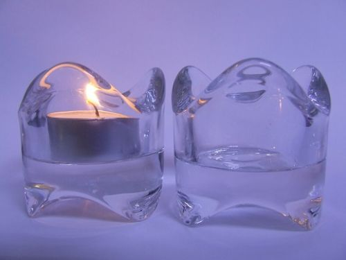Tealight Holder - Glass **Wavy**